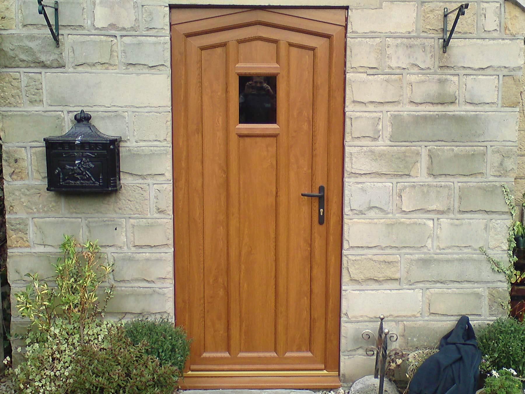 brown residential door