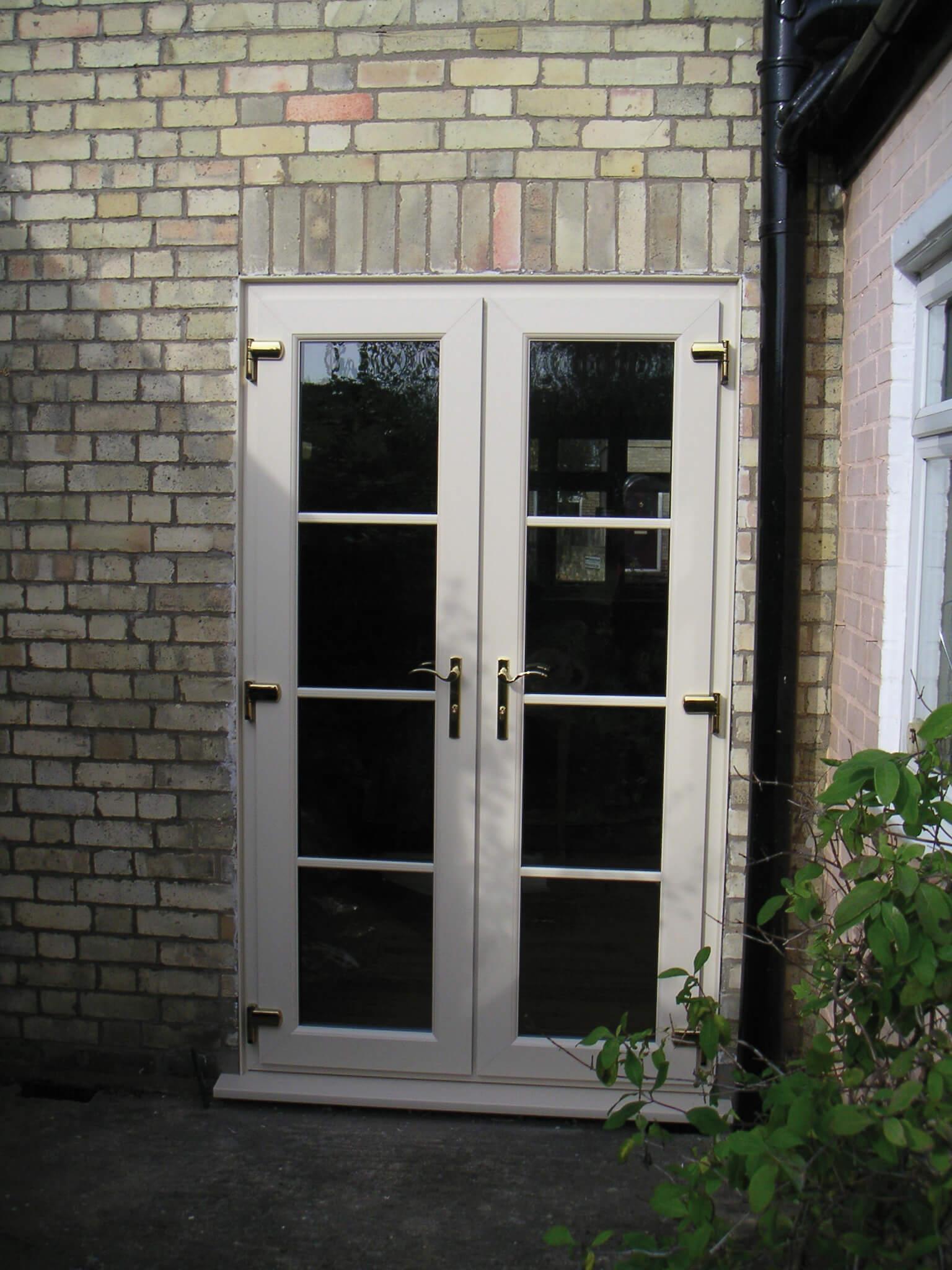 cream french doors