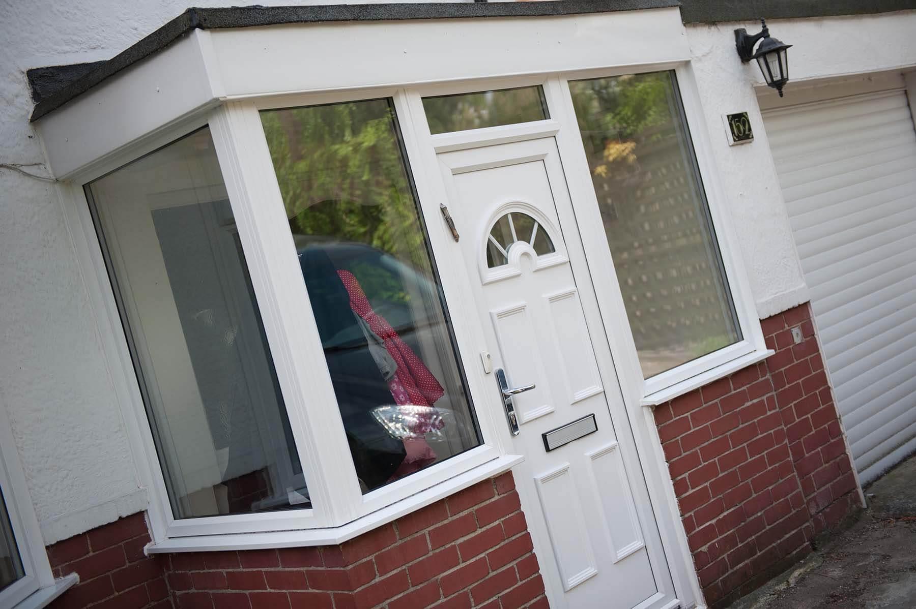 residential white door
