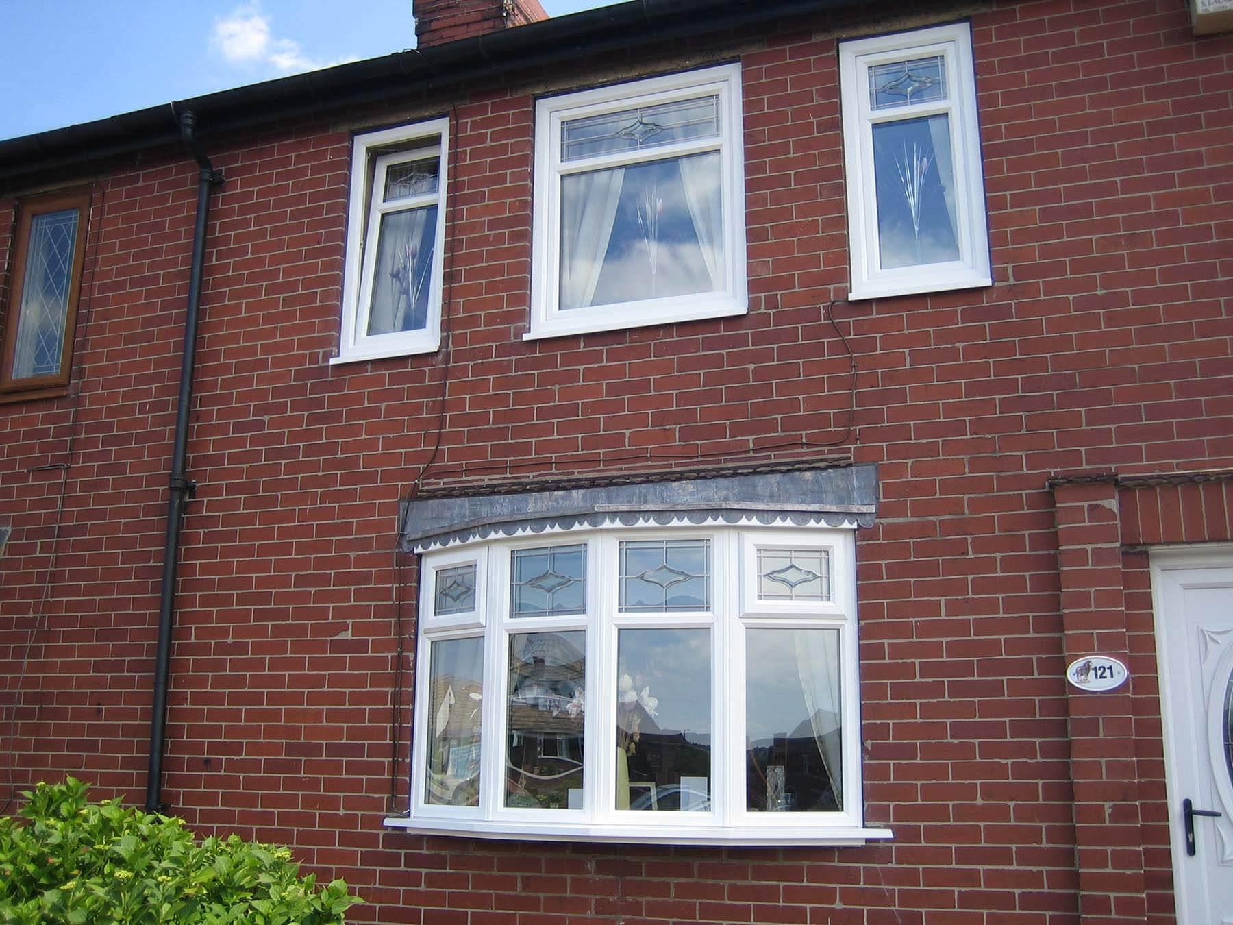 Tilt and turn white traditional windows
