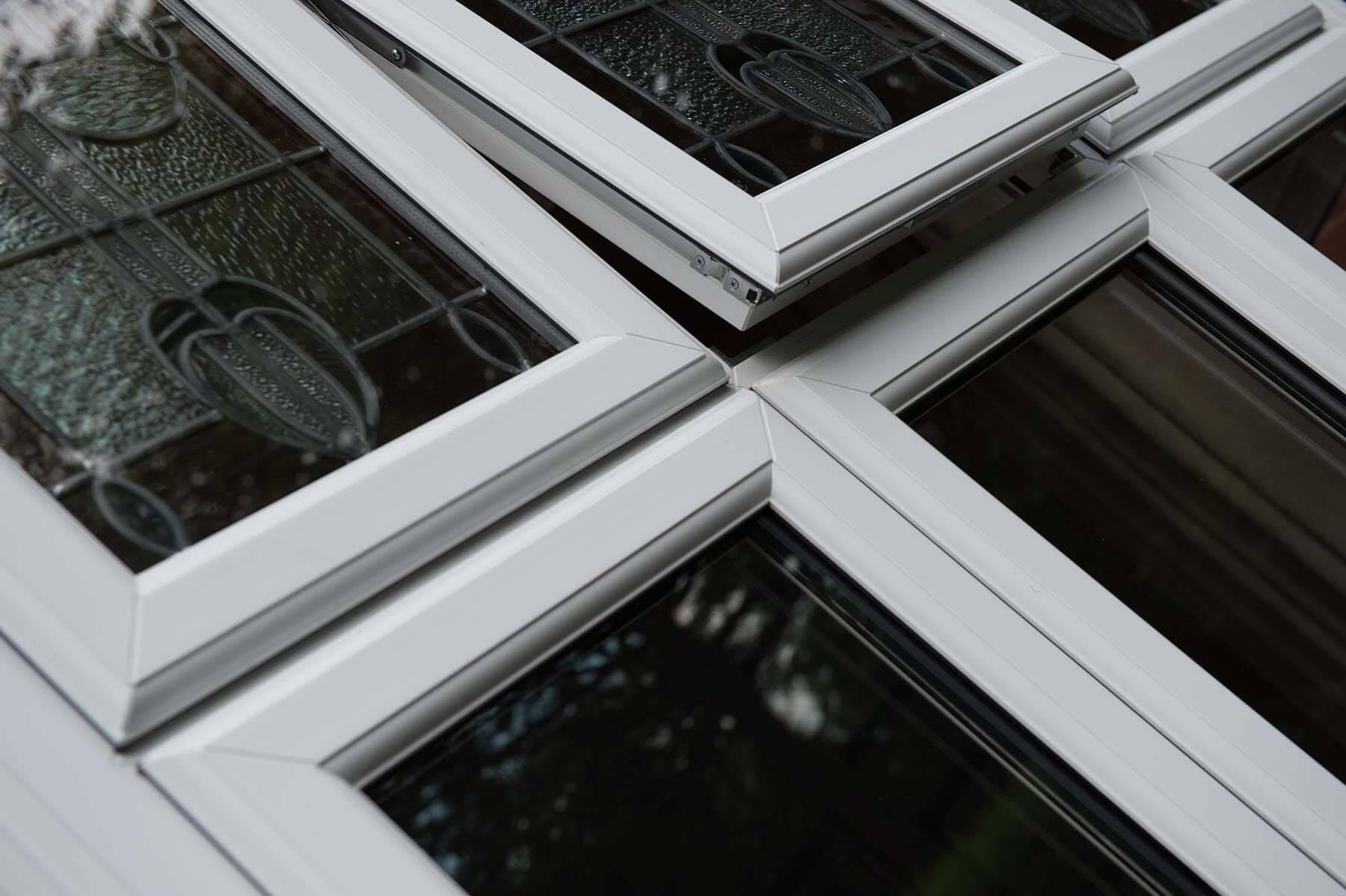 upvc window close up
