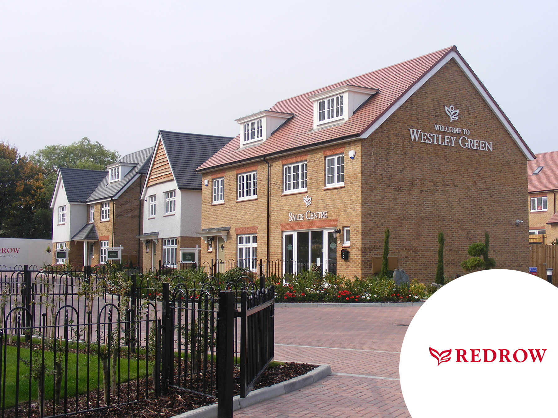 Redrow houses at Westley Green
